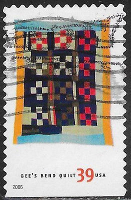 US 4091 Used - American Treasures Series - Gee's Bend Quilts - ‭‭Nine Patch, by Ruth P. Mosely