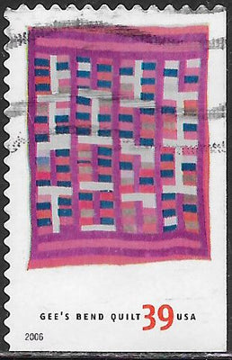 US 4094 Used - American Treasures Series - Gee's Bend Quilts - Chinese Coins Variation - ‭Arlonzia Pettway
