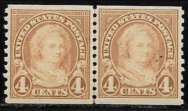 US 601 MNH Joint Line Pair - Martha Washington