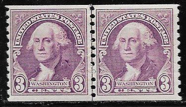 US 721 MNH Joint Line Coil Pair - George Washington