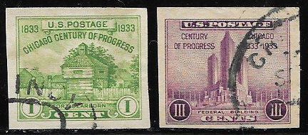 US 730a & 731a Used - Century of Progress