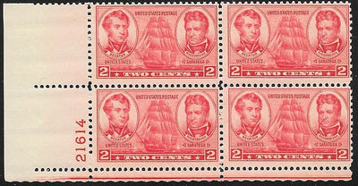 US 791 Plate Block LL 21614 - Navy