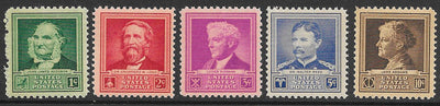 US 874-878 MNH - Famous Americans - Scientists