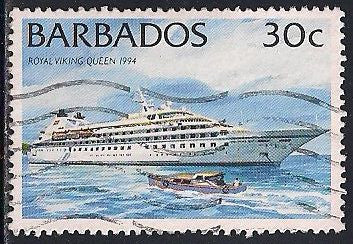 Barbados 875 Used - Ship - Royal Viking Queen
