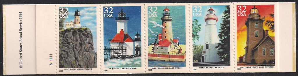 US BK230 MNH Complete Booklet - Great Lakes Lighthouses