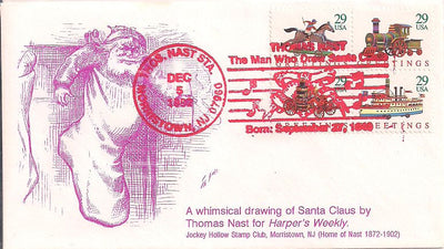 US Event Cover - Christmas - Thomas Nast Station 1992