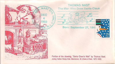 US Event Cover - Christmas - Thomas Nast Station 1993