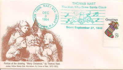 US Event Cover - Christmas - Thomas Nast Station 1994