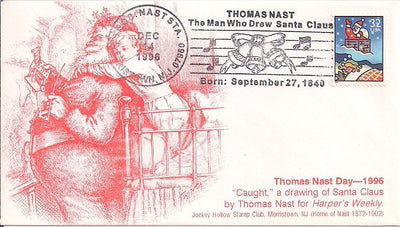 US Event Cover - Christmas - Thomas Nast Station 1996