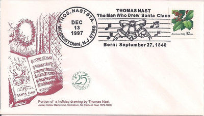 US Event Cover - Christmas - Thomas Nast Station 1997