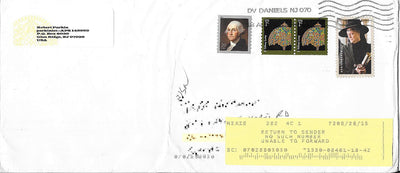 US 4504 & 3749(X2) & 4836 Recent Cover - Return to Sender - Harry Potter