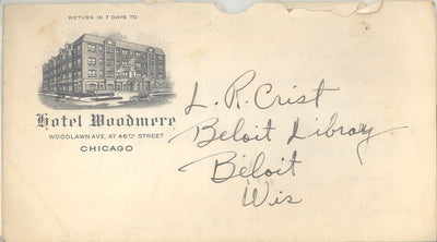 US Hotel Woodmere Cover - Not Mailed - Enclosure