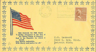 US 1942 Patriotic Cover - Pledge of Allegiance