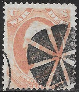 US O91 Used - Wedge Fancy Cancel - General Winfield Scott