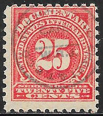 US R202 Used - Documentary - Numeral - Hand Stamped