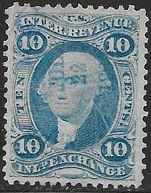 US R36c Used - Inland Exchange - George Washington - Hand Stamp