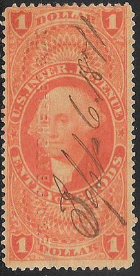 US R67c Used - Entry of Goods - George Washington - Embossed Cancel