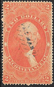 US R81c Used - Conveyance - George Washington - Hand Stamped