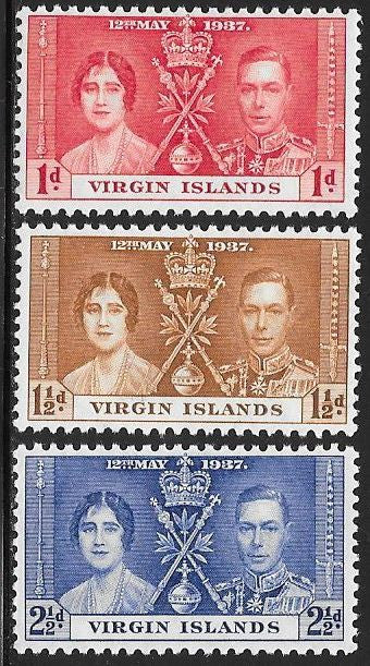 Virgin Islands Unused/Hinged Hinge Remnant - George VI Coronation
