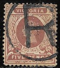 Victoria 224 Used - Inverted Watermark - Registry Cancel - Victoria