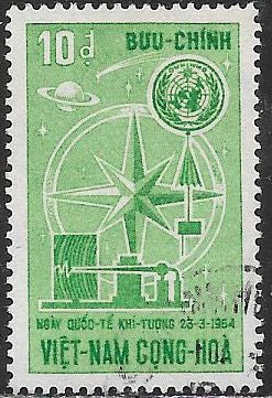 South Viet Nam 238 Used - 4th World Meteorological Day