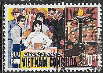 South Viet Nam 350 Used - Voters, Torch & Scales