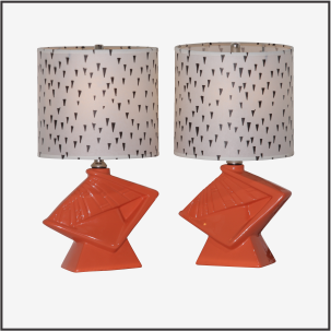 Vintage Lamp Pair #1513 - Modilumi