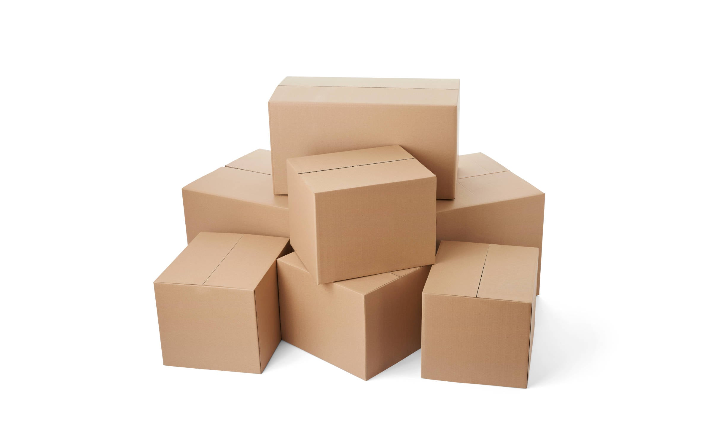 stack of shipping boxes