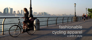 Upside is fashionable cycling apparel - a shift in style - made in Toronto, Canada