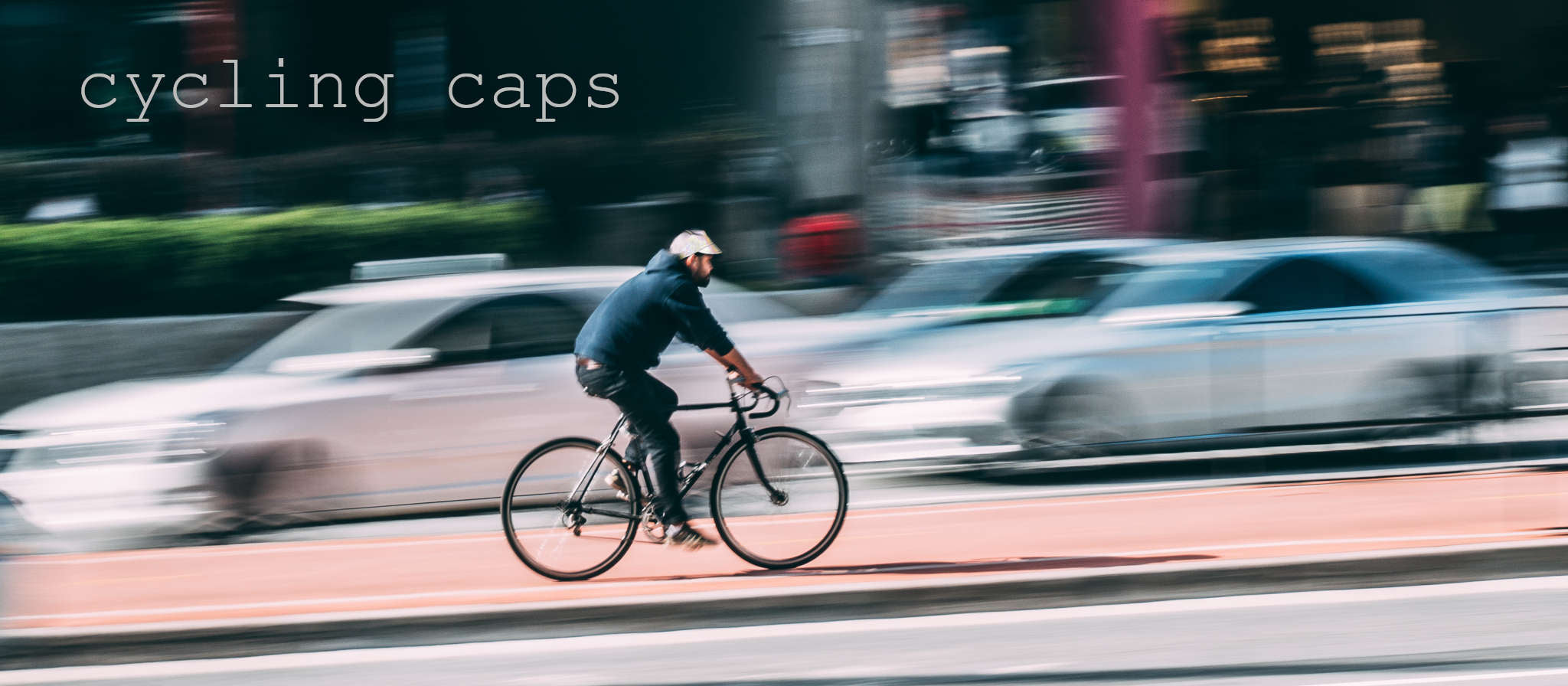 Upside Cyclestyle Cycling Cap collection - man with reflective cap in bike lane