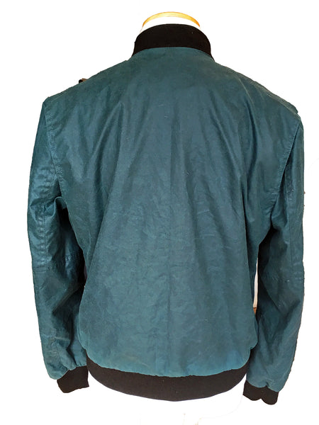 Waxed Cotton Bomber Jacket