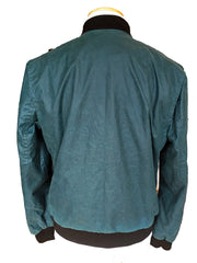 Teal Bomber Jacket/ wax cotton