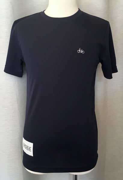 Upside Cyclestyle Men's Embroidered Bicycle T-Shirt in Blue