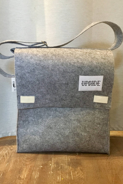 Upside Cyclestyle - Accessories - Felt Messenger Bag in Grey