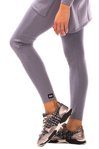 GoWarm by Ilze Magdalena 100% Merino Wool Leggings in Grey on model
