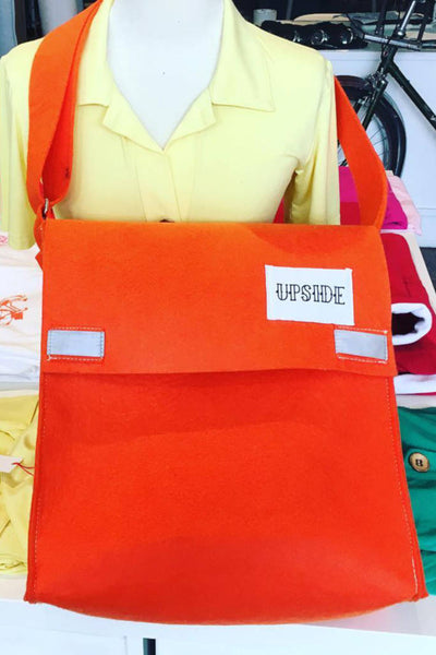 Upside Cyclestyle - Accessories - Felt Messenger Bag in Orange