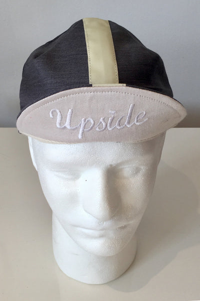Upside Cyclestyle Cotton Cycling Cap in Carbon-Grey - front view
