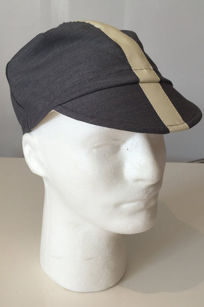 Upside Cyclestyle Cotton Cycling Cap in Carbon-Grey - side view