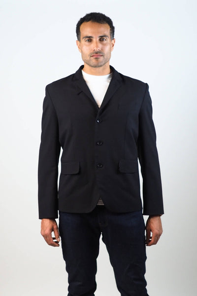Upside Cyclestyle Men's City Riding Tailored Jacket in Black on model