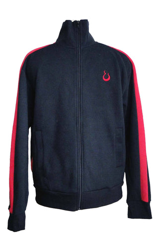 Upside Cyclestyle Men's Fleece Jacket in Black & Red