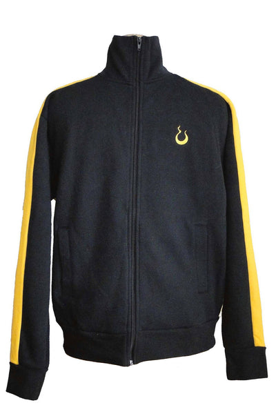 Upside Cyclestyle Men's Fleece Jacket in Black & Yellow