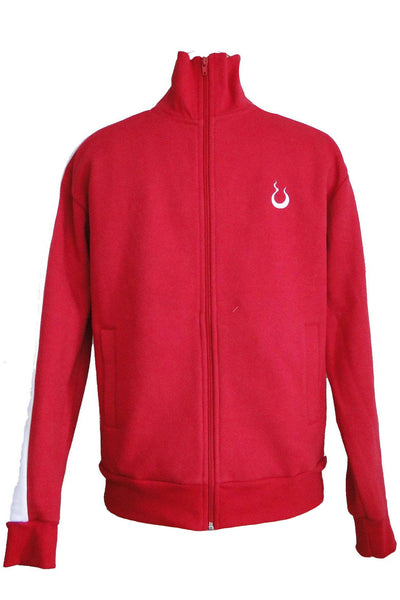 Upside Cyclestyle Men's Fleece Jacket in Red & White