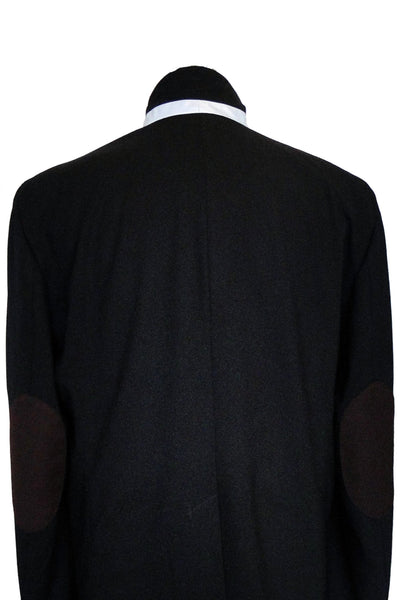 Upside Cyclestyle Men's City Riding Tailored Jacket in Black - back view