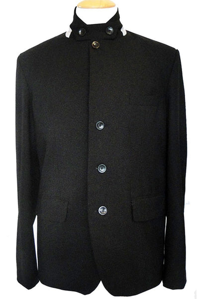 Upside Cyclestyle Men's City Riding Tailored Jacket in Black - closed front view