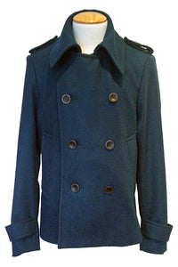 Upside Cyclestyle Men's Wool Peacoat in Teal