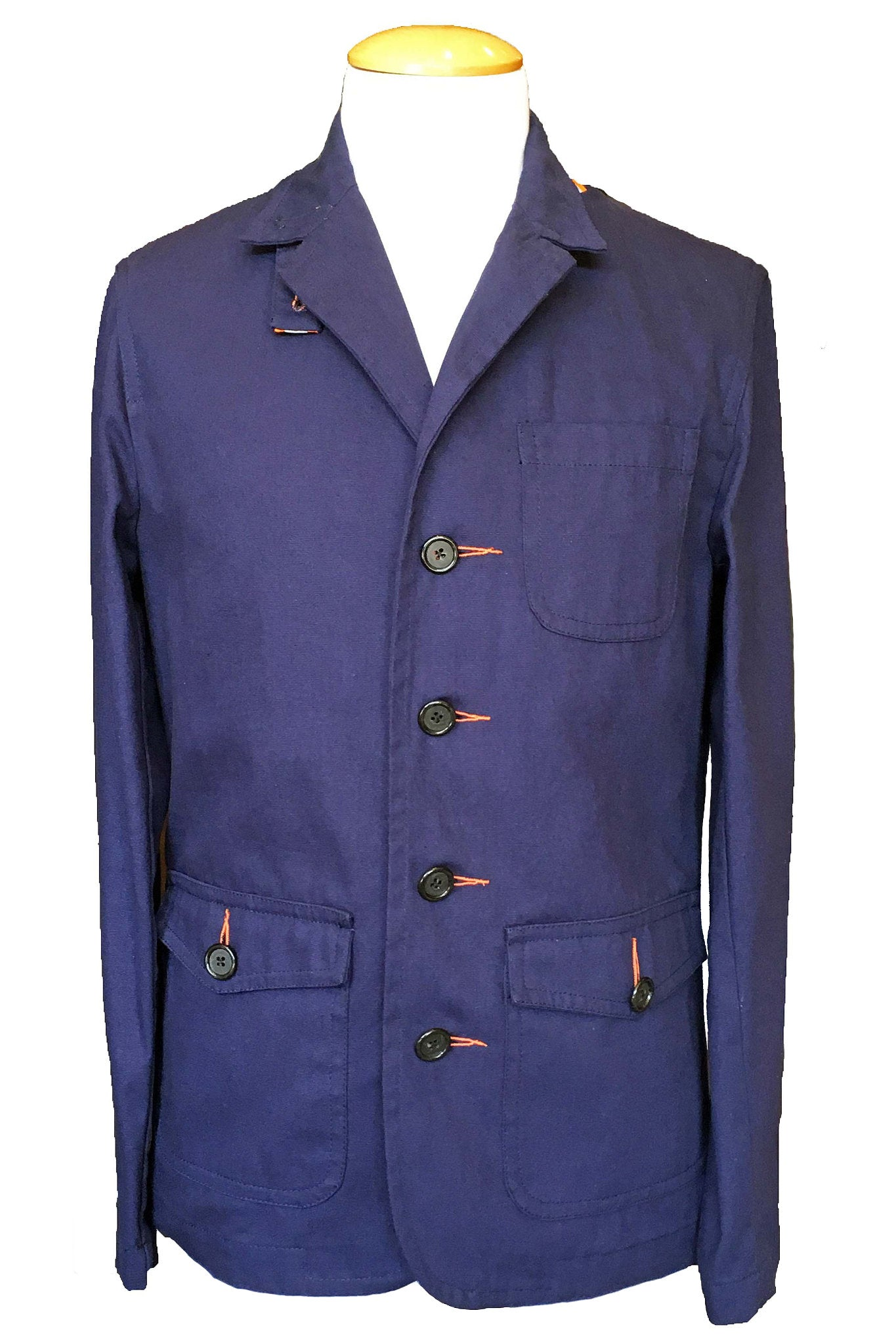 Upside Cyclestyle Men's Twill Chore Blazer in Navy
