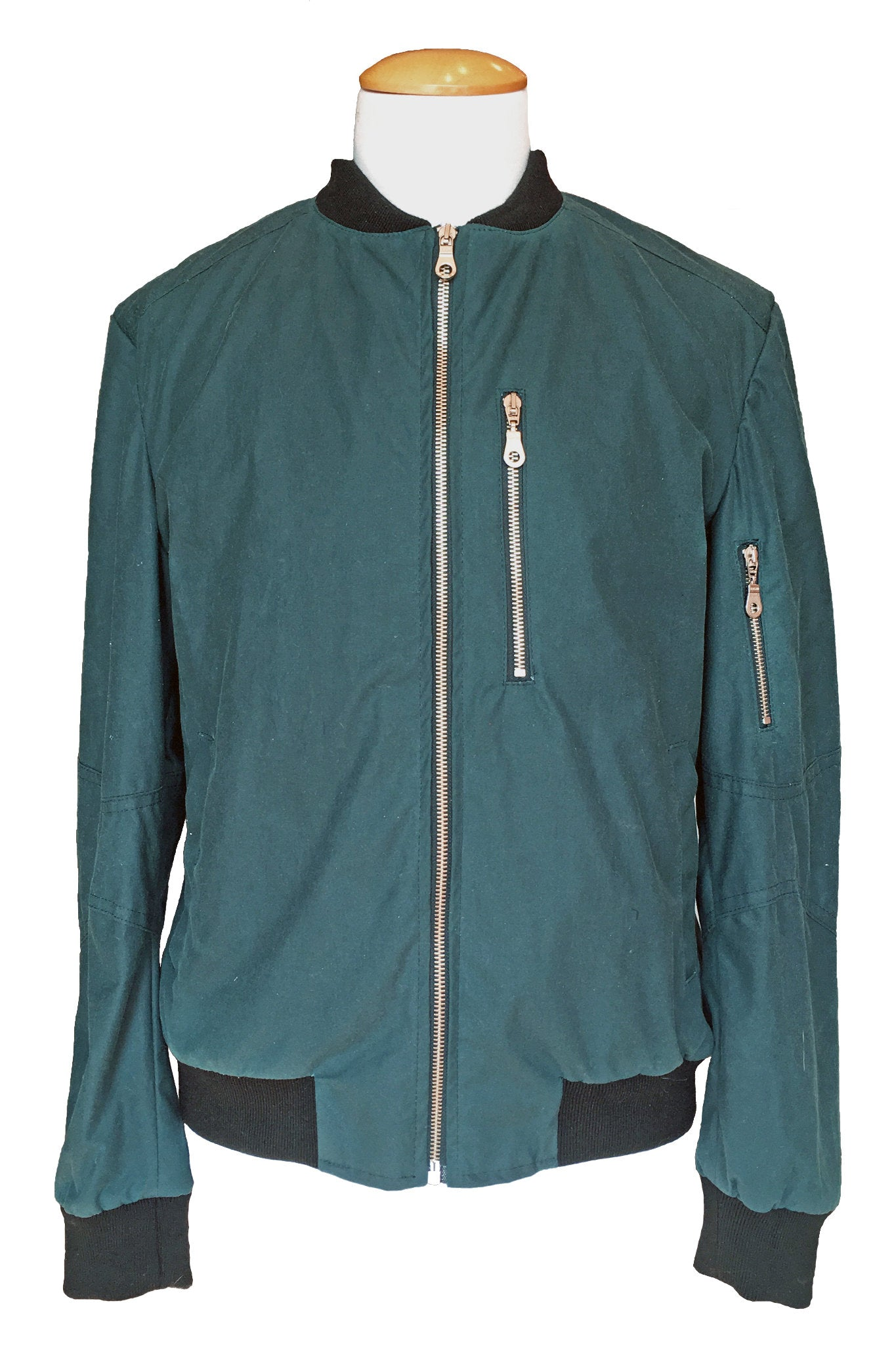 Upside Cyclestyle Men's Waxed Cotton Bomber Jacket in Teal