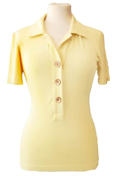 Upside Cyclestyle Women's Bamboo Polo Shirt in Canary Yellow