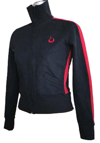 Upside Cyclestyle Women's Fleece Jacket in Black & Red