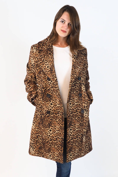 Upside Cyclestyle Women's Leopard Print Coat on model